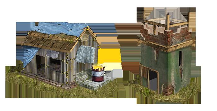 Новые здания для игры Rust