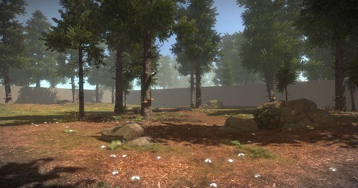 обновленный лес днём в Rust