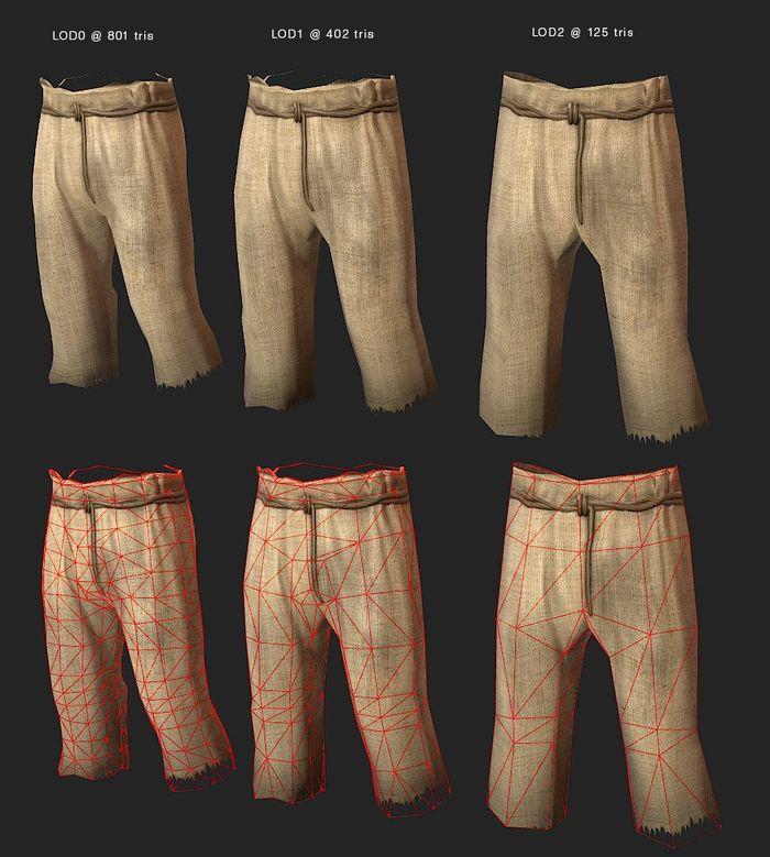 обновленные полигоны одежды в Rust