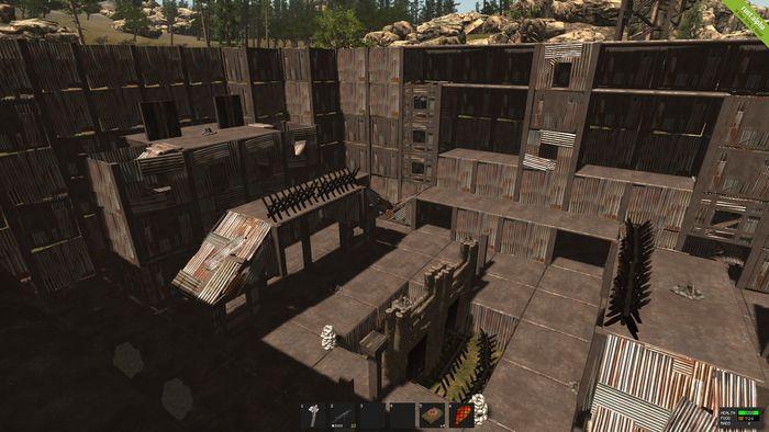 Гладиаторская арена в игре Rust