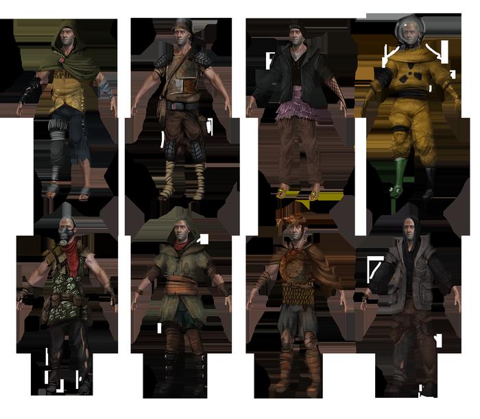 Концепты одежды для игры Rust