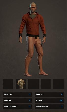 Свойства одежды в игре Rust не работают