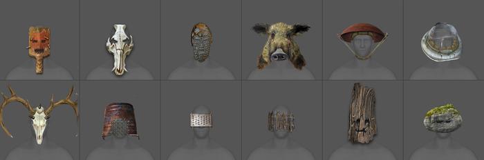 Концепты головных уборов для игры Rust