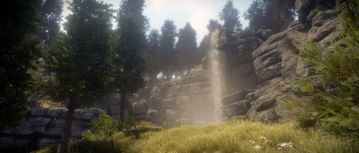 Водопад в игре Rust
