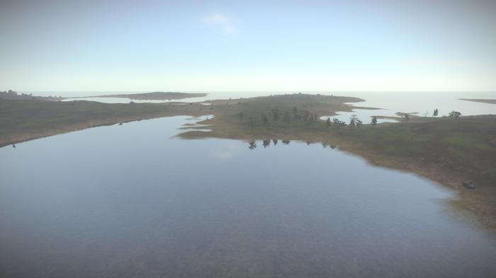 Измененный ландшафт в игре Rust