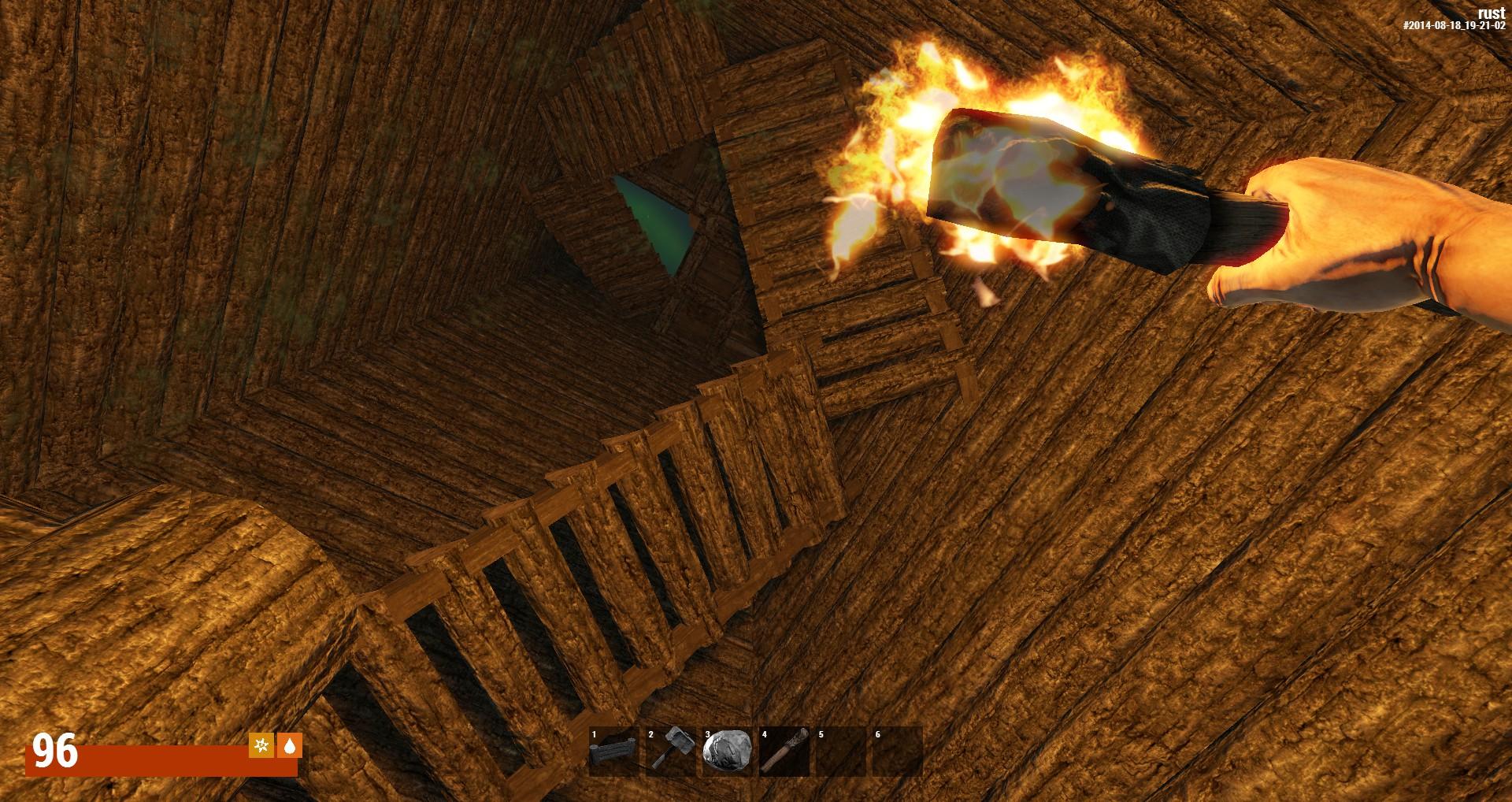 Лестница, по которой можно спускать неприятелей