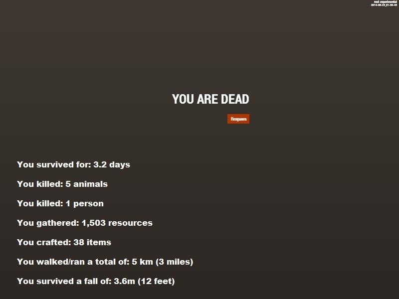 Статистика игрока Rust
