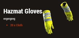 Антирадиационные перчатки (Hazmat Gloves)
