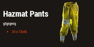 Антирадиационные штаны (Hazmat Pants)