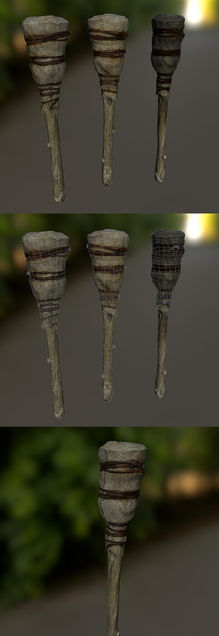 Текстуры 3D модели факела