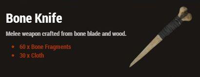 Костяной нож (Bone Knife)