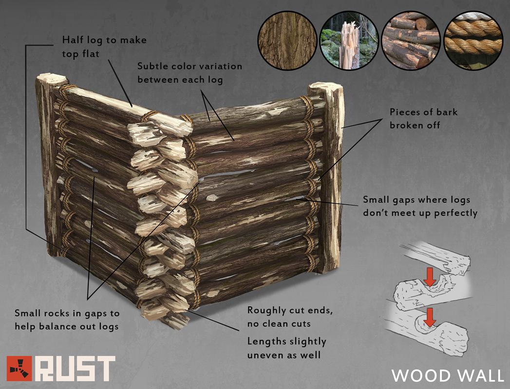 Новая деревянная стена