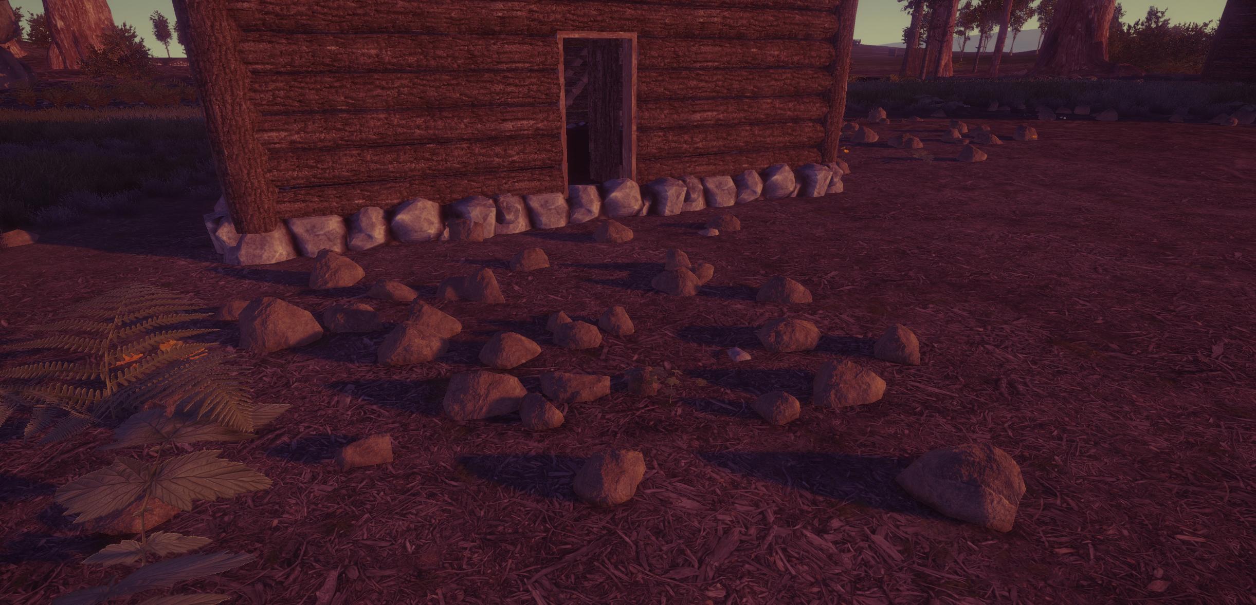 Беспорядок из камней