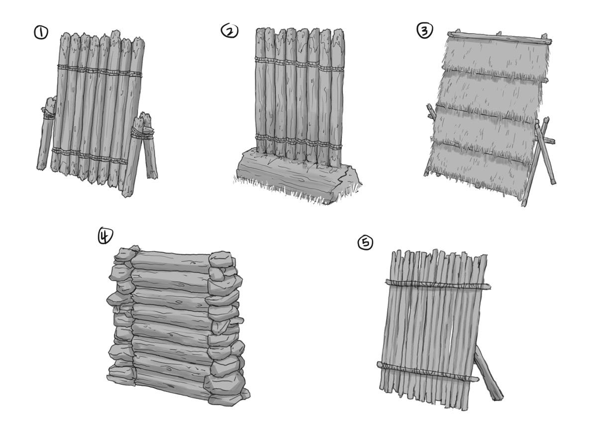 Деревянные баррикады