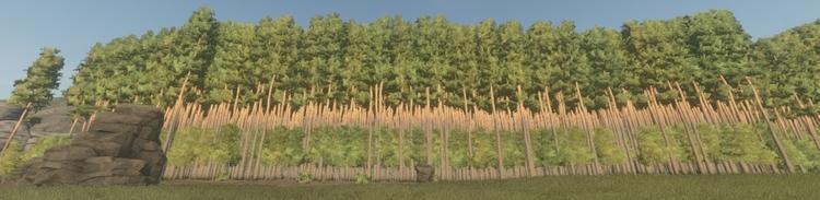 Мноооого деревьев