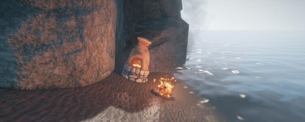 Костер и печь в тайном месте