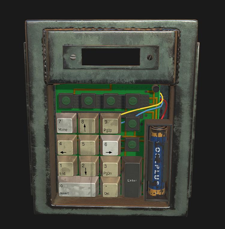 Модель кодового замка