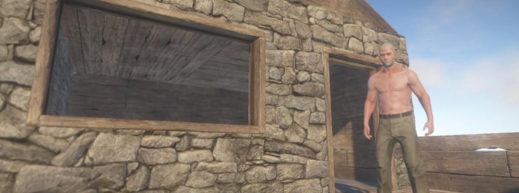 Как сделать стены rust