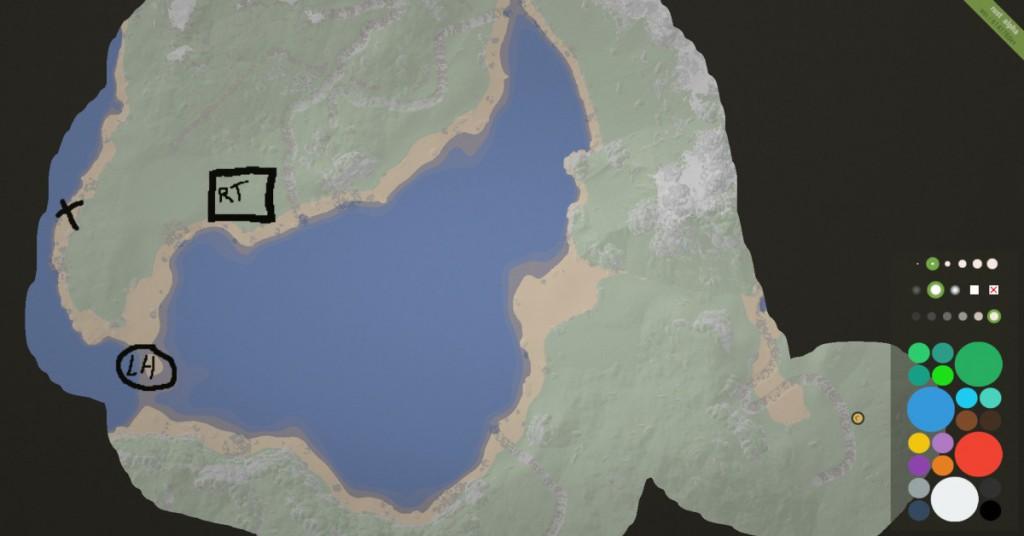 Карта в игре Rust