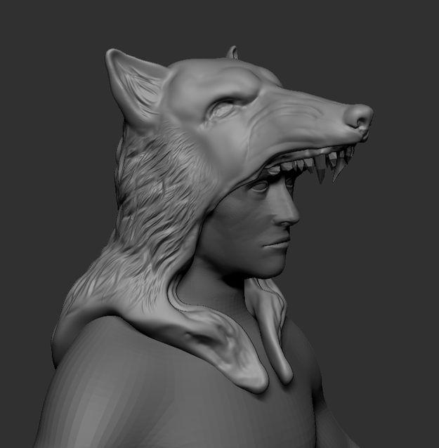 Шапка Волчья голова