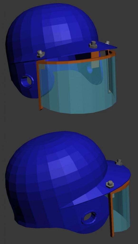 Концепт бейсбольного шлема
