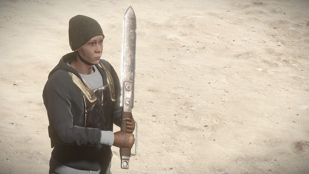 Двуручный меч от 3го лица