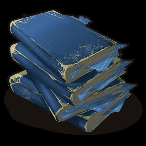 Стопка книг с чертежами